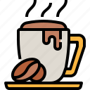 beverage, coffee, cup, drink, hot, mug icon