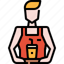 avatar, barista, bartender, coffee, man, user icon