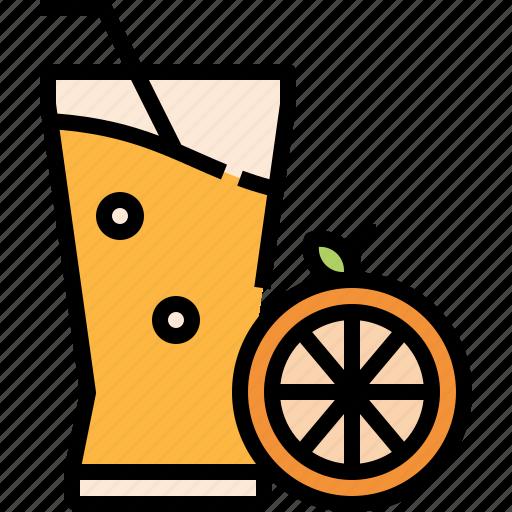 beverage, drink, fruit, juice, orange icon
