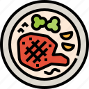 barbecue, food, grilled, meat, restaurant, steak icon