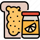 bakery, bread, fruit, jam, jelly, toast icon
