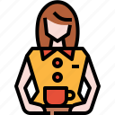 avatar, barista, coffee, user, waitress icon