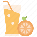 beverage, drink, fruit, juice, orange icon