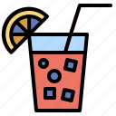 and, beverage, cocktail, drinking, food, juice, straw icon