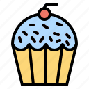 cake, cup, dessert, food, muffin, restaurant, sweet icon