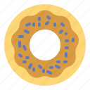 bakery, dessert, donut, sugar, sweet icon