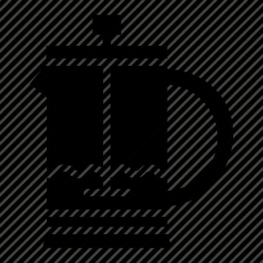 coffee machine, coffee maker, coffee percolator, coffee pot, french press icon