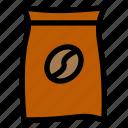 coffee, coffee powder, shop icon