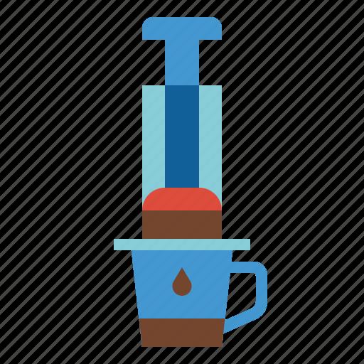 aeropress, brew, cafe, coffee icon