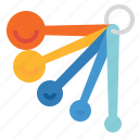 cook, kitchen, measuring, spoons icon