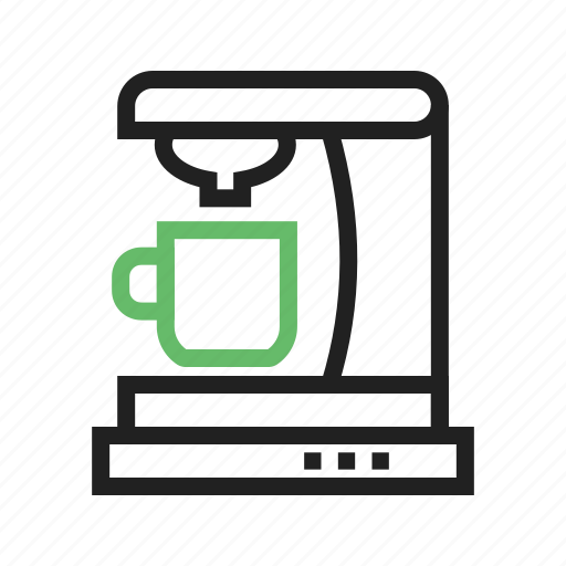 coffee, cup, drink, machine icon