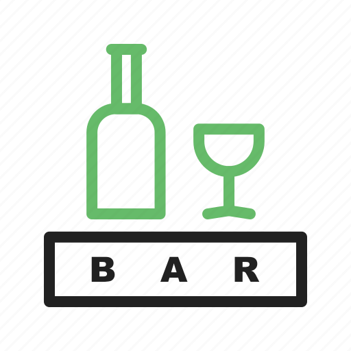 alcohol, bar, bottle, drink, sign icon
