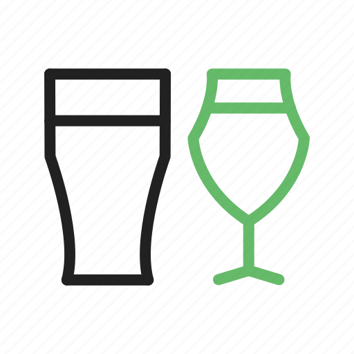 alcohol, beer, drink, glasses icon