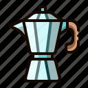 mocha, pot, barista, espresso, coffee icon