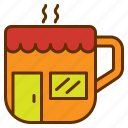 coffee, cup, drink, mug, shop, store icon