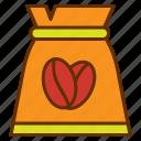 bag, coffee, coffee bean, coffee shop, package, tea
