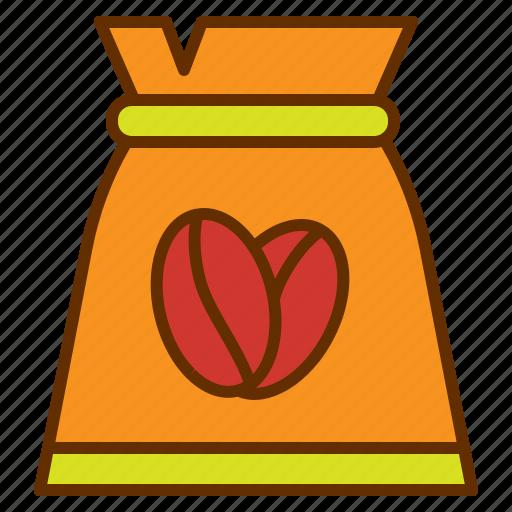bag, coffee, coffee bean, coffee shop, package, tea icon