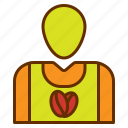 account, avatar, coffee, employee, people icon