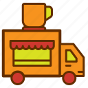 car, coffee, shop, store, transport, truck, vehicle