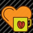 coffee, drink, heart, love, lover