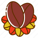 beans, coffee logo, food, fruit, product, tea