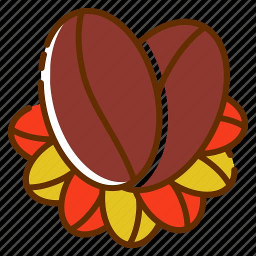 beans, coffee logo, food, fruit, product, tea icon