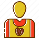 account, avatar, coffee, employee, people, person, user icon