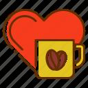 coffee, drink, heart, love, lover, romance, tea