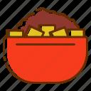 sweet, bowl, chocolate, coffee, cafein, powder