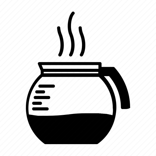 beverage, caffeine, coffee, coffee pot, espresso, kitchen, warm icon