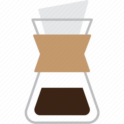 cafe, chemex, coffee, drink, espresso, filter, filtred icon