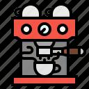 cafe, coffee, espresso, machine, maker