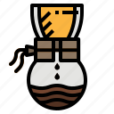 coffee, drip, hot, pot, water icon