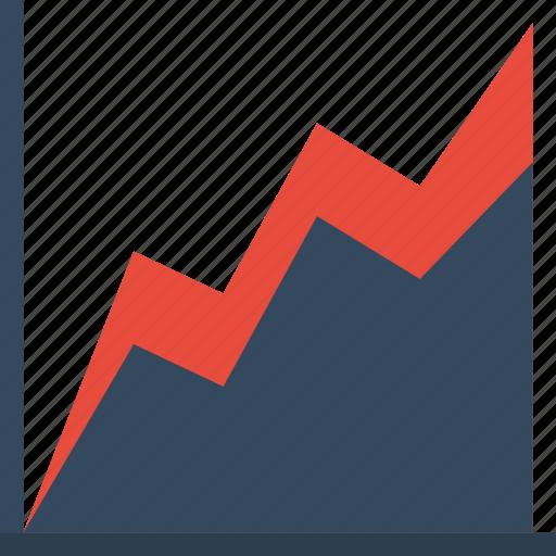 analystic, area, char, comparison, report icon