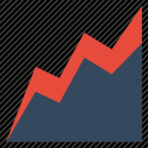 analystic, area, chart, comparison, report icon