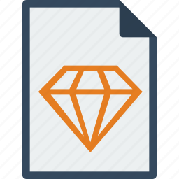 diamond, file, format, sketch icon