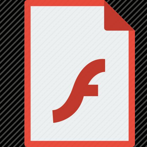 file, flash, format, swf icon