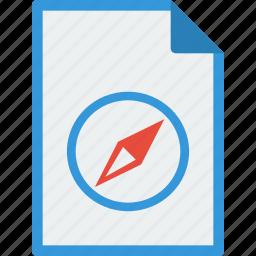 archive, compass, file, format, safari, web icon
