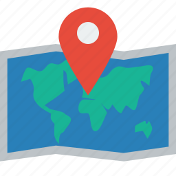 location, map, marker, pin, world icon