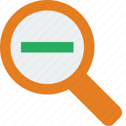 glass, magnifier, magnifying, out, search, zoom icon
