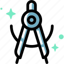 compass, dividers, drafting, drawing, tool, art, math