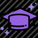 education, graduate, hat, learn, mortarboard, school, study