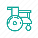 chair, medical, outline, wheel icon