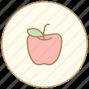 apple, dinner, eating, food, fruite, kitchen, restaurant icon