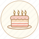 birthday, cake, candle, cook, cooking, dinner, eating, food, kitchen, restaurant icon