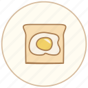 bread, breakfast, dinner, eating, egg, food, kitchen, restaurant icon