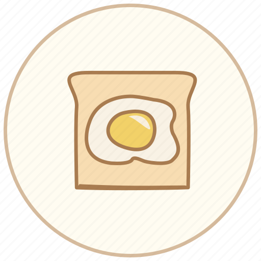bread, breakfast, dinner, eating, egg, food, kitchen, restaurant icon