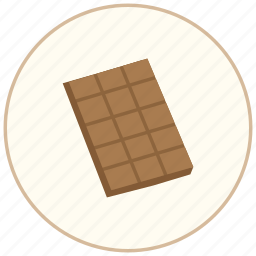 bar, chocolate, chocolate bar, cooking, dinner, eating, food, restaurant, snack, sweet icon