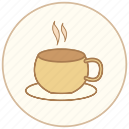 coffee, cup, drink, eating, food, glass, hot, restaurant, snack, sweet, tea icon
