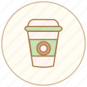 coffee, cup, drink, food, mug icon